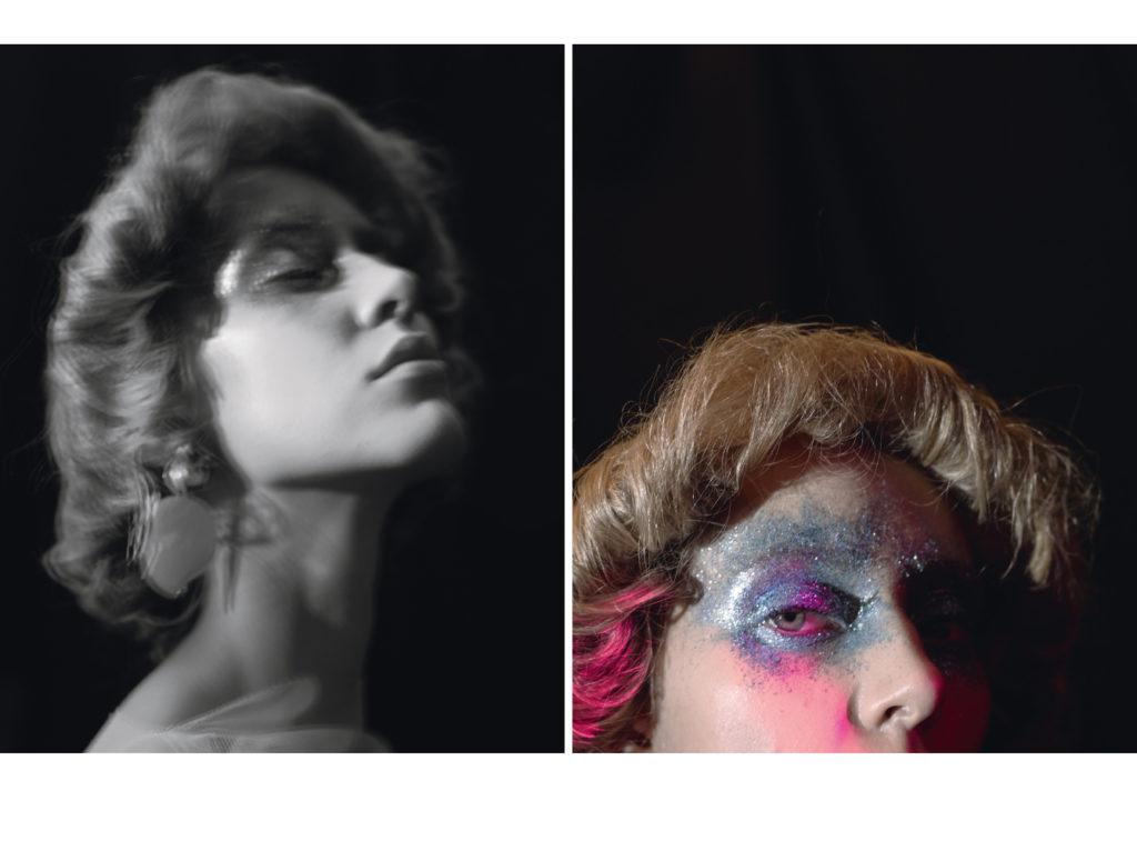 Boucles d'oreilles Mango ; Makeup : Rika Bitton ; Hair : Emmanuelle Caradec
