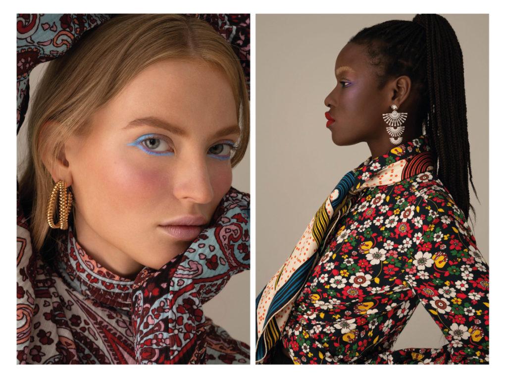 1nstant-beautyIdjima porte une chemise Holiday ; un foulard Hermès ; BO Swarovski