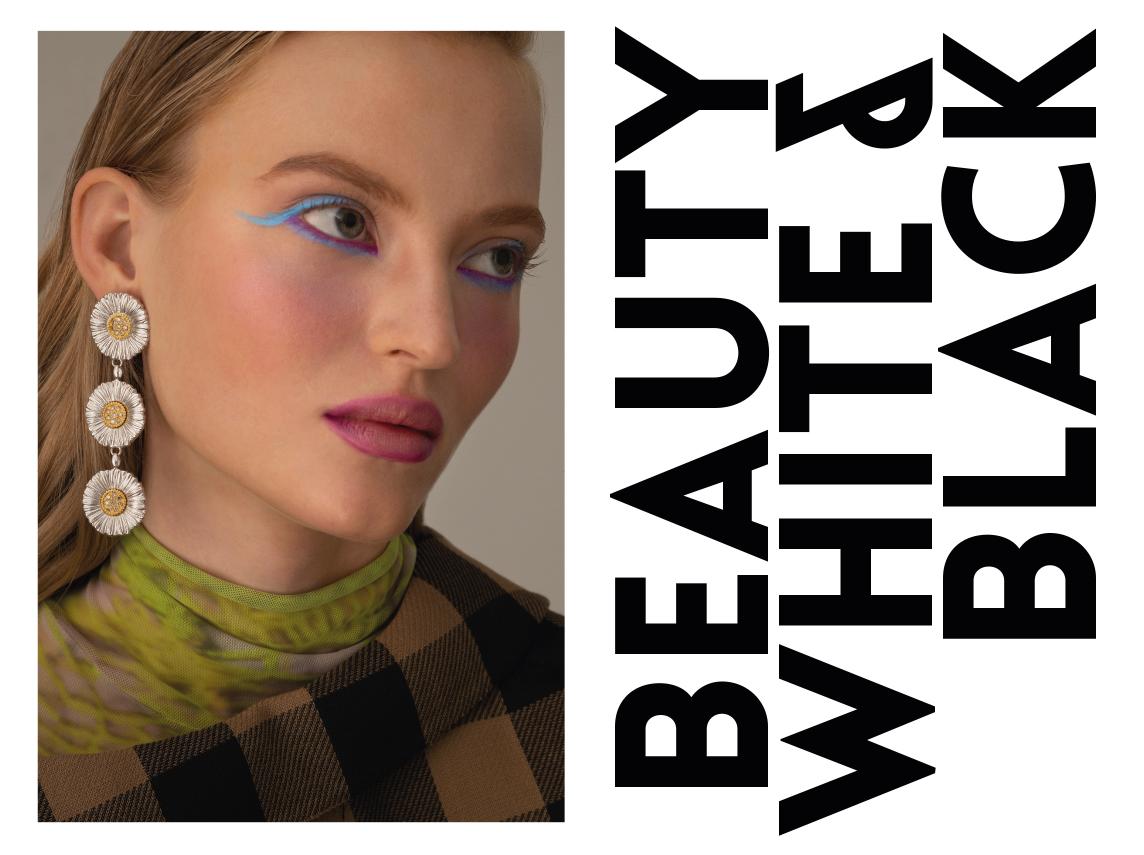Emma porte une veste Dior ; un sous-pull AWS ; des BO Buccellati