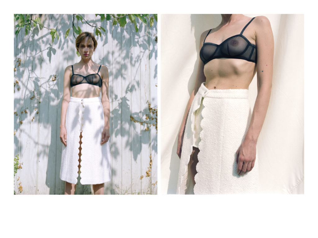 Inna porte une jupe short Chanel, Soutien Gorge Princesse Tam Tam