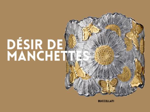 BUCCELLATI:Manchette, «Daisy Extra large» en argent et vermeil