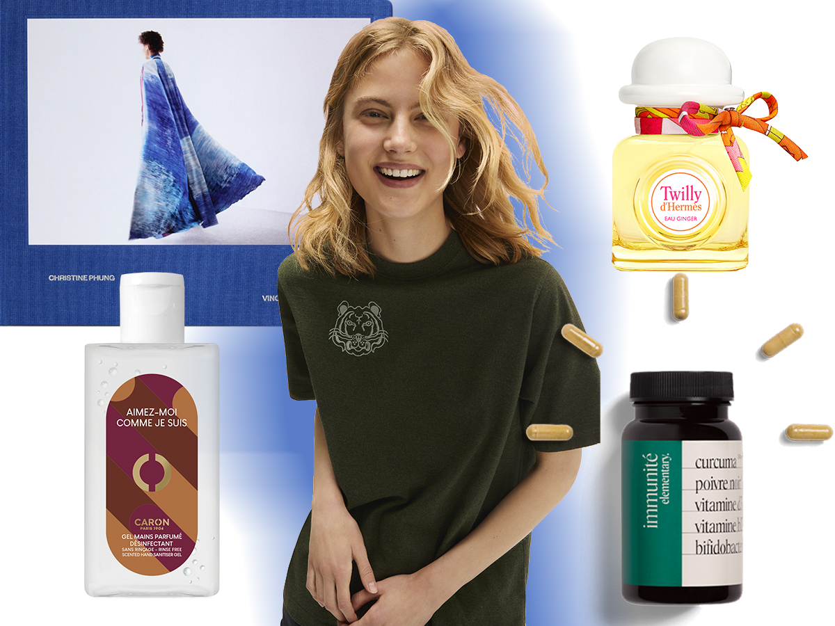 Gel Caron tee shirt kenzo parfum Hermès beauté Elemnetary selection 1nstant