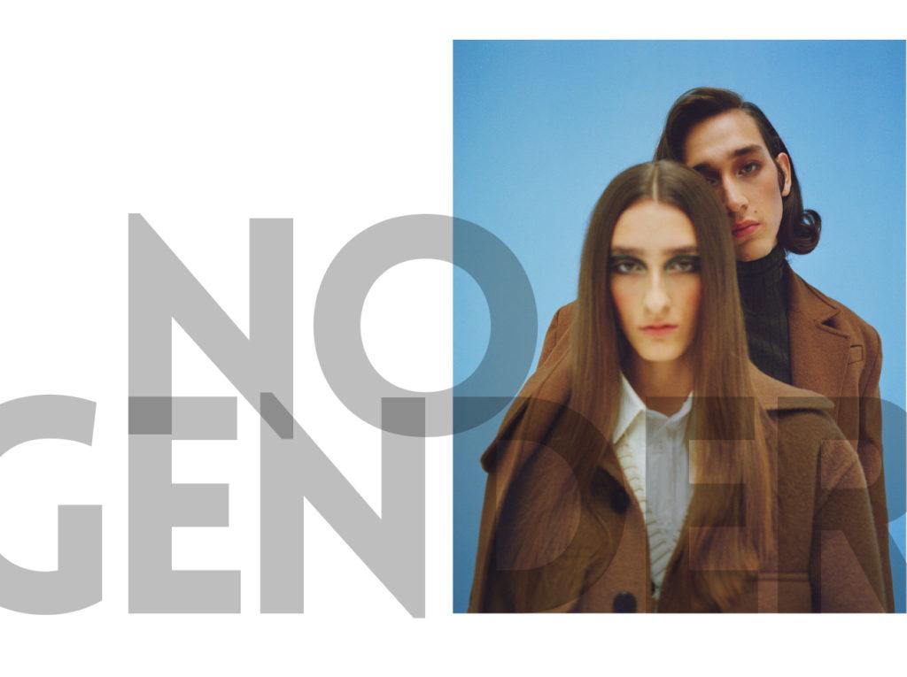 Manon porte veste Ami Paris, chemise Cos. Lorenzo porte un manteau Matériel. 1nstant editorial.
