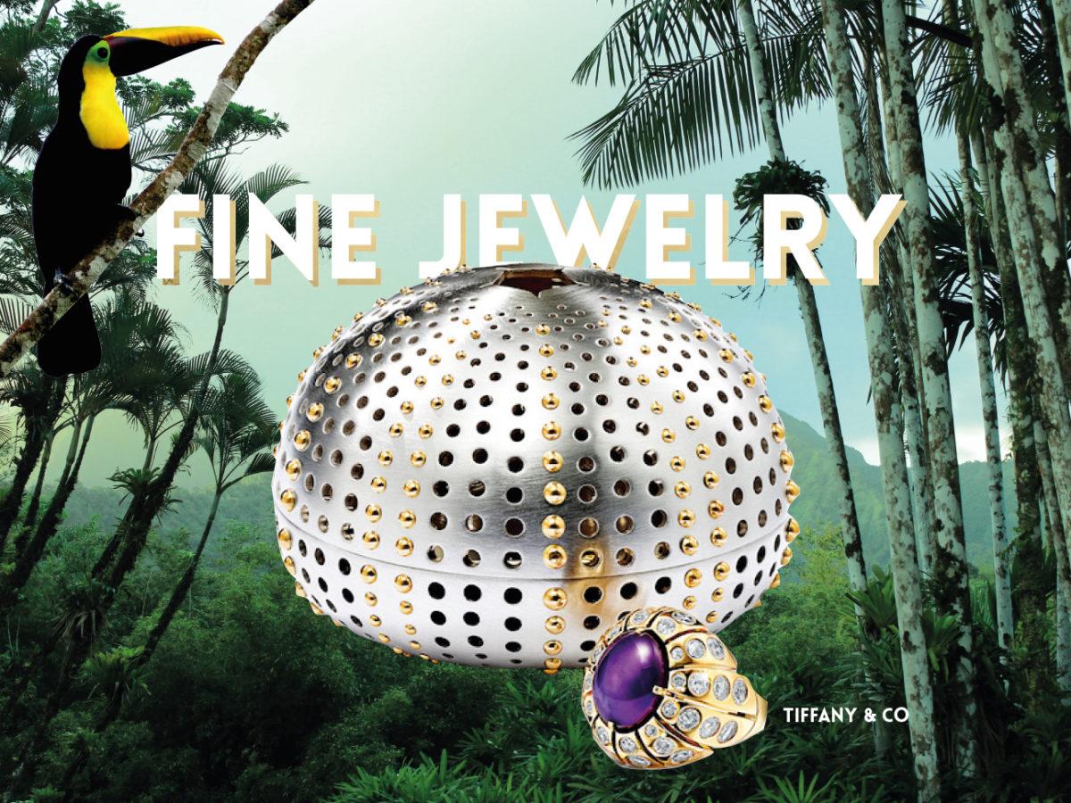 TIFFANY & CO : Bague Collection Colors of Nature, en platine et or jaune, serti d'un saphir ovale taille cabochon de 12 carats et diamants, accompagnée d'un écrin en argent et or jaune.1NSTANT.FR