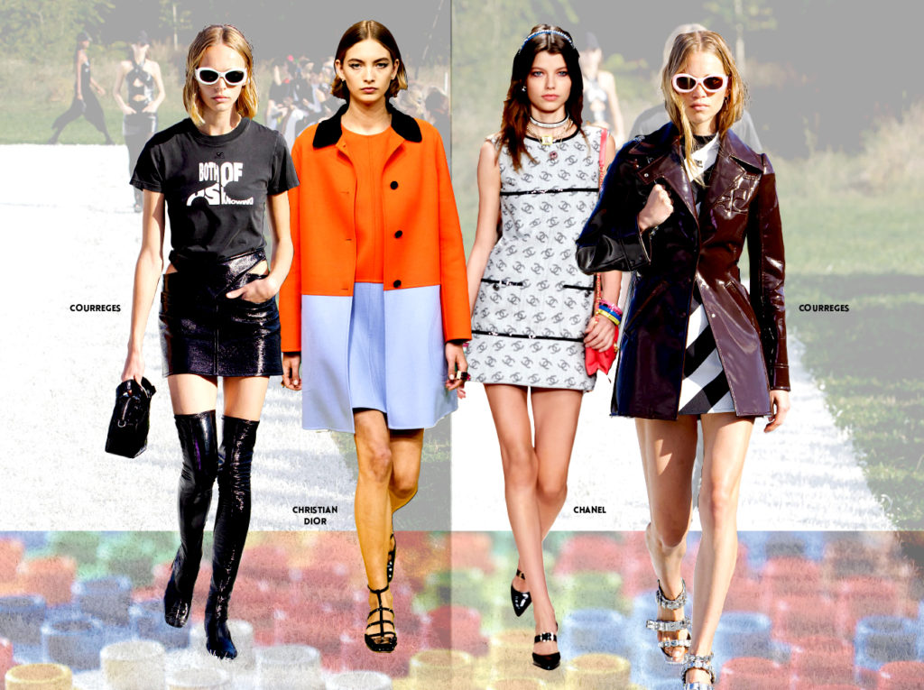 FASHION WEEK ETE 22 1NSTANT COURREGES CHRISTIAN DIOR CHANEL